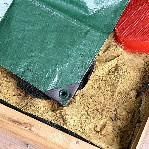 Sandkasten Abdeckplane Plane Abdeckung 150x150cm schützt vor Schmutz und ist wasserundurchlässig