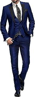 GEORGE BRIDE 002 - Traje de 5 Piezas para Hombre, Chaqueta de Traje, Chaleco, pantalón de Traje, Corbata, con Bolsillos