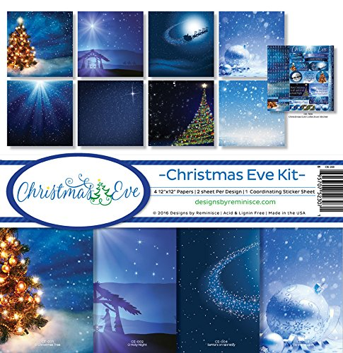 Reminisce Scrapbook Christmas Eve Collection Kit