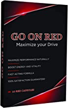 Go On Red, Natural Male Energy Supplement, Natural Amplifier for Energy, 10 Red Capsules