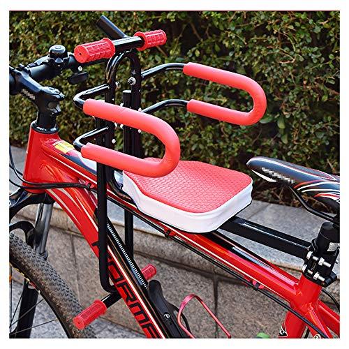 Olz Silla de Bicicleta para niños, Asientos de Bicicleta para niños Asiento de Remolque de Bicicleta eléctrica para bebé Soporte de Seguridad Sillín de liberación Delantera Asiento para niños