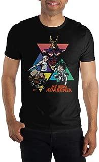 MHA My Hero Academia Graphic Men's Black T-Shirt Tee Shirt