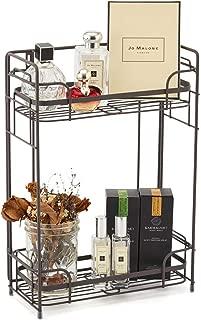 EZOWare Bathroom Countertop Shelf, 2-Tier Standing/Wall Mount Storage Organizer Rack Stand Holder for Kitchen Bathroom Cosmetic Jars Bottles