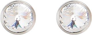 DSE By Swarovski 18K White Gold Plated White Stone Earrings, 5087667