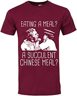 Grindstore Men's Eating A Meal A Succulent Chinese Meal T-Shirt Burgundy