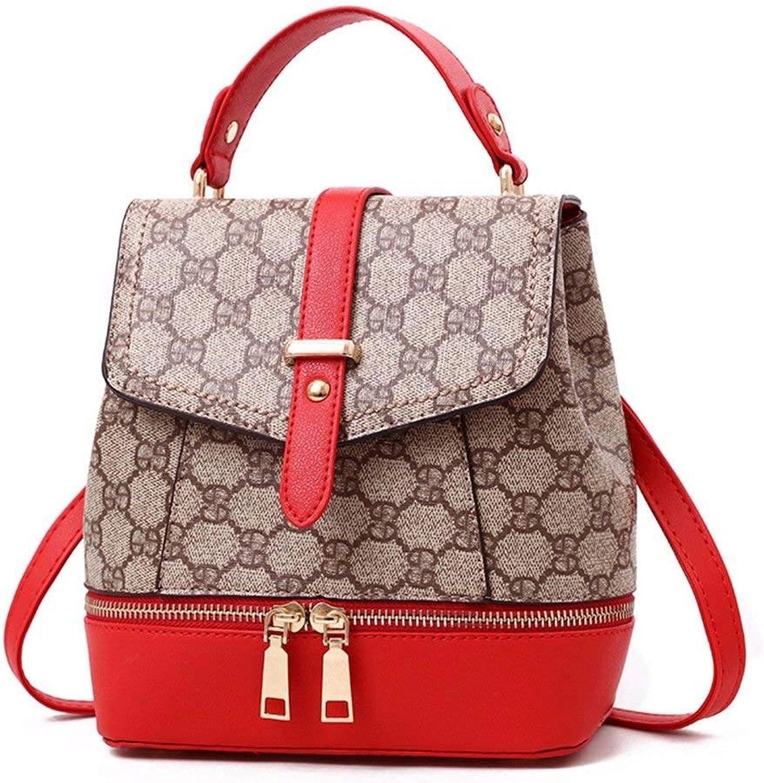 Hulday Handtasche Frauen Rucksack Leder Rucksack Für Mdchen Schultasche Casual Tagesrucksack Einfacher Stil Schule Tasche Ruckscke Rot C, (Farbe   Colour, Größe   One Größe)