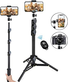 """Selfie Stick Tripod, iXunGo 51"""" Extendable Tripod Stand with Phone Clip, Wireless Remote, 360° Rotation Ball Head Compatible with iPhone/Android DSLR/Digital Cameras for Group Selfies, Vlogging"""