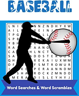 Baseball Word Searches & Word Scrambles: Brain Teasers/ Puzzle Book For Adults & Sports Fanatics (Includes Word Scramble B...