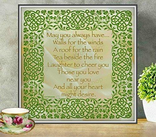 Irish art God art House Blessings Celtic Gaelic Scottish wall decor Irish home decor Irish gift Ireland Home Sweet Home art print Irish Family love art