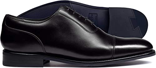 Chaussures Oxford haute technologie noires à bout rapporté et cousu cousu Goodyear  point de vente