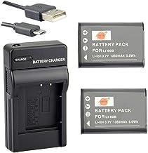 DSTE Li-60B Li-Ion Batería (2 Paquetes) Traje y Cargador Micro USB Compatible con Nikon Coolpix S550, Coolpix S560