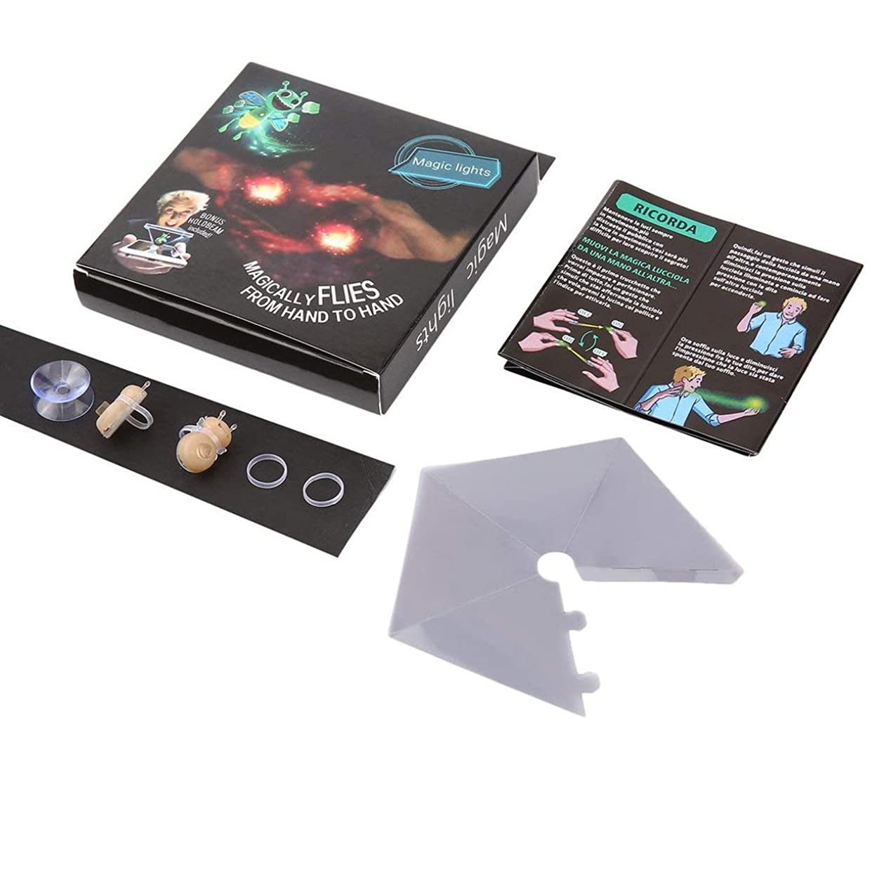 Tivollyff クリスマスプレゼント 3Dハニービーマジックライト ブライトブーツ ゲームトリック小道具 マジックフィンガープロップランプ ホログラムプロジェクションおもちゃ