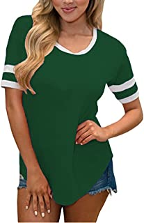 SimpleFun Womens Winter Long Sleeve Baseball T-Shirts Round Neck Loose Casual Tunic Tops Blouses