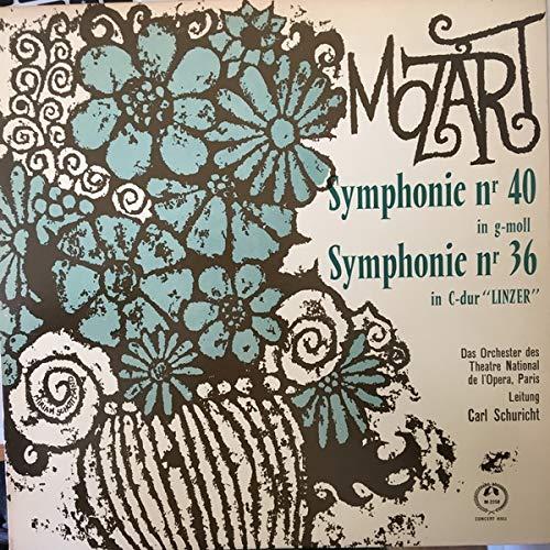 Wolfgang Amadeus Mozart , Orchestre National De L'Opéra De Paris , Leitung Carl Schuricht - Symphonie Nr 40 In G-Moll / Symphonie Nr 36 In C-Dur