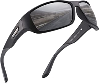PUKCLAR Polarised Sports Sunglasses for Men Women Running Cycling Fishing Driving Golf Tr 90 Unbreakable Frame