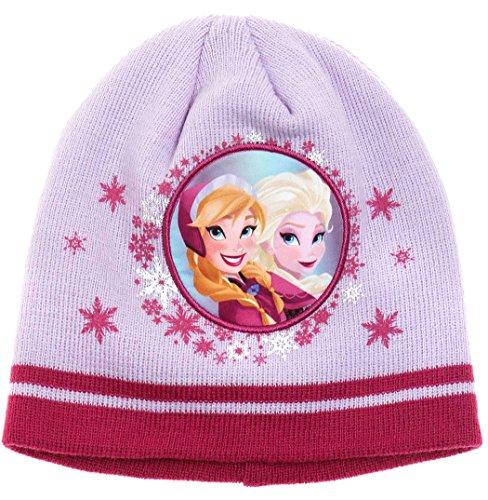 Bonnet enfant fille La reine des neiges Violet de 3 à 9ans (52 (3 à 6ans))