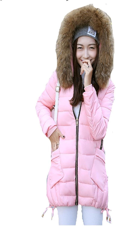 7716abb3e7d Women'S Winter Coat Girls Long Slim Nagymaros Hooded Coat Paragraph ...