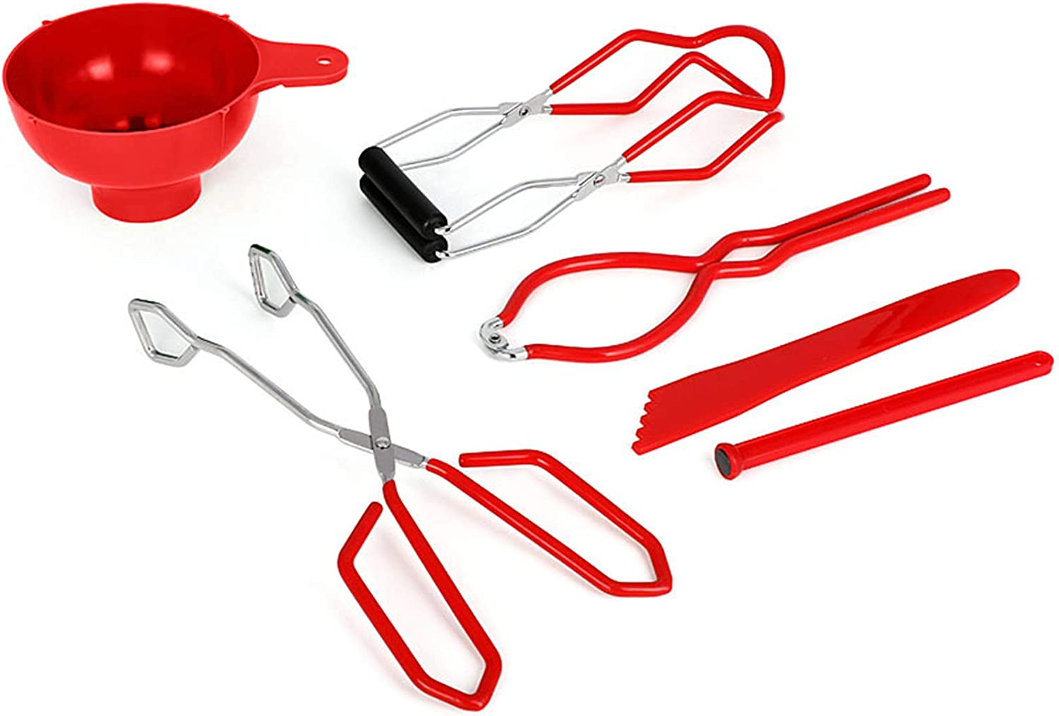 PB Canning Kit Canning Supplies Include Canning Funnel, Canning Jar Lifter, Jar Wrench, Lid Lifter, Canning Tongs, Bubble Popper/Bubble Measurer/Bubble Remover for Canning Jars and Mason Jars