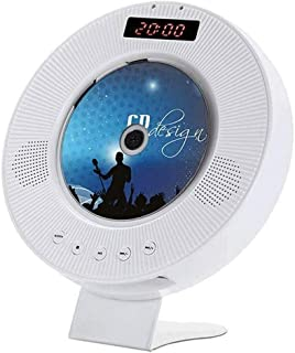 Adesign Portable CD Player, Wall Mountable Bluetooth Built-in HiFi Speakers, Home Audio FM Radio USB MP3 Music Player (CD-...