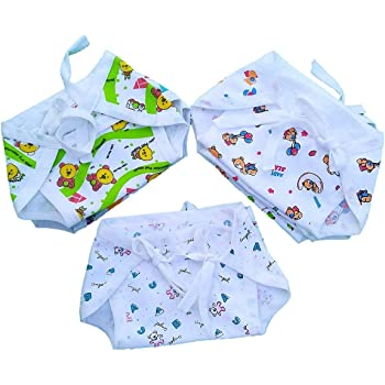 Sunuo Washable Reusable Multicolour Hosiery Cotton Diapers,Nappy,Langot for New Born Baby (0-6 Months, Pack of 12)