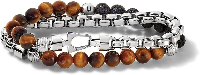 Bulova Mens Sale Classic Wrap Medium J96B023L Bracelet Branded goods Silver