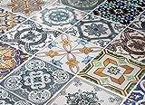 Adhesivos para Azulejos - Paquetes con 48 (10 x 10 cm, Azulejos para Baño y Cocina Portugués Adhesivos Decoración)