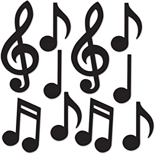 """Beistle Mini Musical Notes Silhouettes, 5.5""""-10.25&a"""
