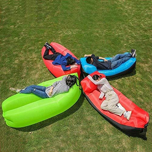 Piscina Inflable reclinable Aire Sofá Bolsa portátil Adecuado for Viajes de excursión Que acampa Playa la luz del Partido y cómodo (Portable Color: Dos Paquetes), Color: Rojo