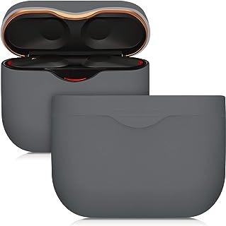 kwmobile Silikonfodral kompatibelt med Sony WF-1000XM3 – skyddsfodral för hörlurar – grå