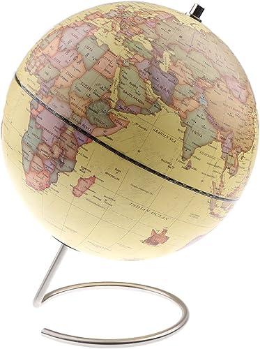 oferta de tienda Dolity Globo Magnético de Mapa Mundial Mundial Mundial de ABS con Soporte de Acero Duradero Juguete Educativo para Niño - amarillo  la mejor selección de