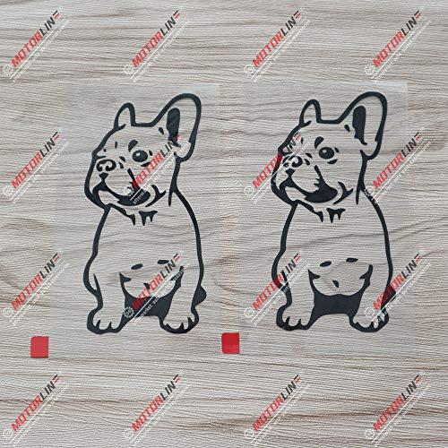 2X Black 5'' French Bulldog Dog Frenchie Decal Sticker Car Vinyl die Cut no Background