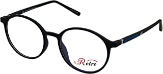 RETRO Unisex-adult Spectacle Frames Round 5205 M.Dark Blue/Black