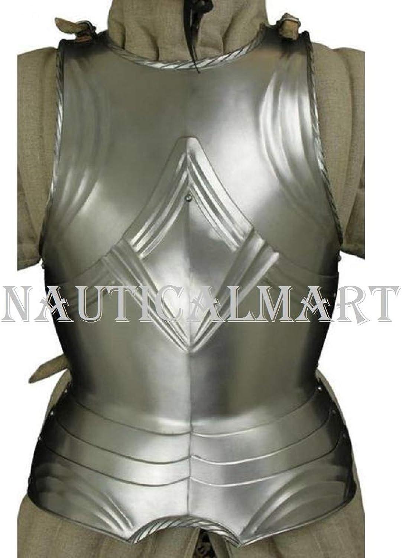 NAUTICALMART Medieval German Gothic Cuirass Renaissance Steel Armor