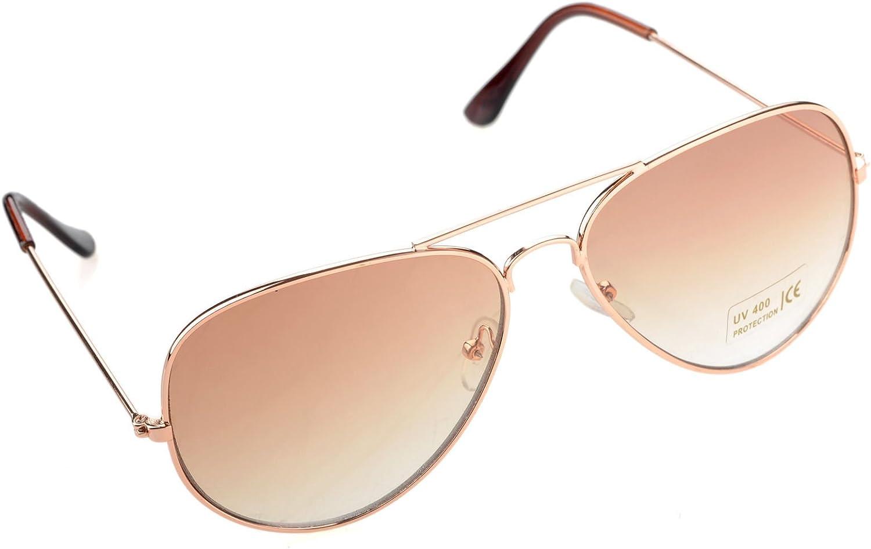 MUOutlets New Small Classic Aviator Sunglasses 50mm Aviators gold Brown