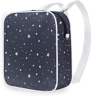 DEZIRO - Mochila de hombro para la escuela, diseño de cielo nocturno y estrellas