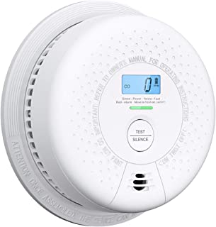 X-Sense Combination Smoke Detector and Carbon Monoxide Detector Alarm with Display, UL 217 Standard Certified, 10 Year Sealed Battery Operated, Easy Installation, Auto-Check, SC01
