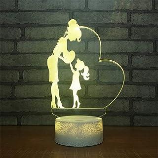 3dイリュージョンランプledナイトライト、usb駆動7色点滅タッチスイッチ寝室の装飾照明用キッズクリスマスギフト