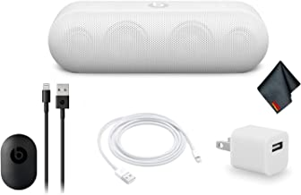 Beats by Dr. Dre Beats Pill+ Portable Bluetooth Speaker Standard Collection (White) Bundle Kit with Extra Charging Cable + More