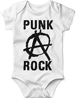 Mikalino Babybody mit Spruch für Jungen Mädchen Unisex Kurzarm Punk Rock Anarchy | handbedruckt in Deutschland | Handmade with Love