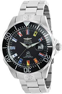 Men's Pro Diver Automatic-self-Wind Watch with Stainless-Steel Strap, Silver, 21.5 (Model: 21323)