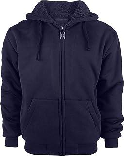 SWISSWELL Fleece Hoodie Men Zip Up Soft Sport Outdoor Hooded Sweatshirt