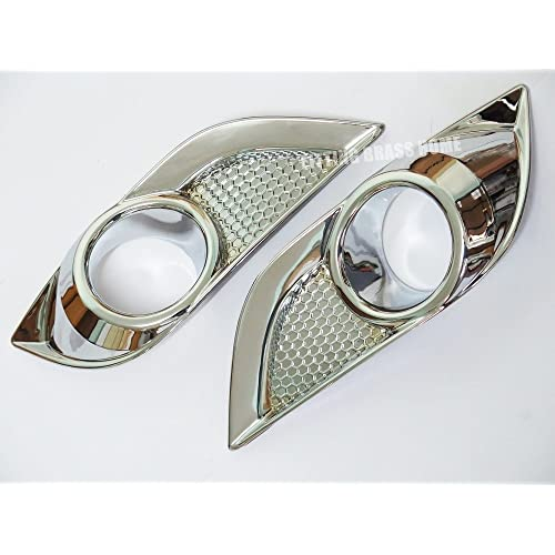 CHROME FOG LIGHT SPOT LAMP COVER TRIM FOR ALL NEW MAZDA BT BT-50 PRO