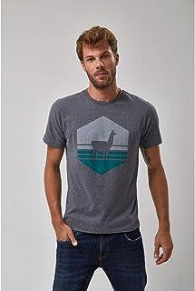Camiseta Lhama Vazada - Mescla Escuro