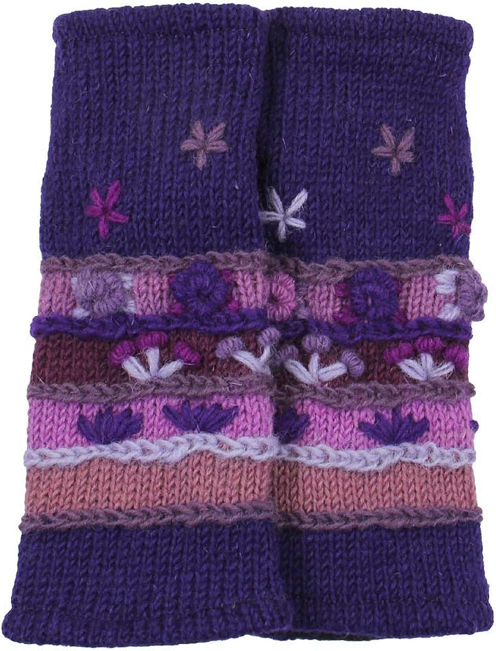 RW Hand Knit 100% Wool Fleece Lined Hand Warmer/Glove