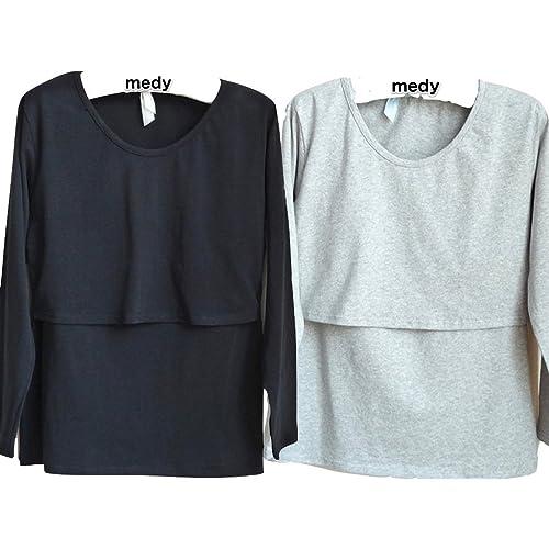 a13d8670cecb5 授乳服 授乳 Tシャツ インナー 長袖 産前 産後 用 年中使える マタニティ ウェア 2
