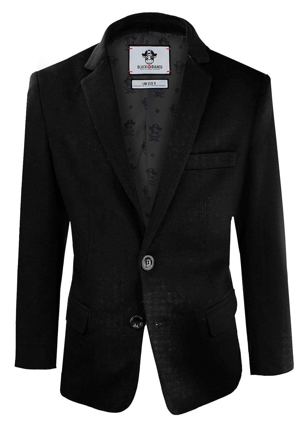 Black n Bianco Boys' Twill Blazer Jacket Formal or Casual Presented by Captin Baby Milan