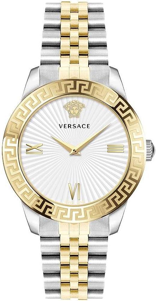 Versace orologio da donna in acciaio  argentato e oro VEVC005 19