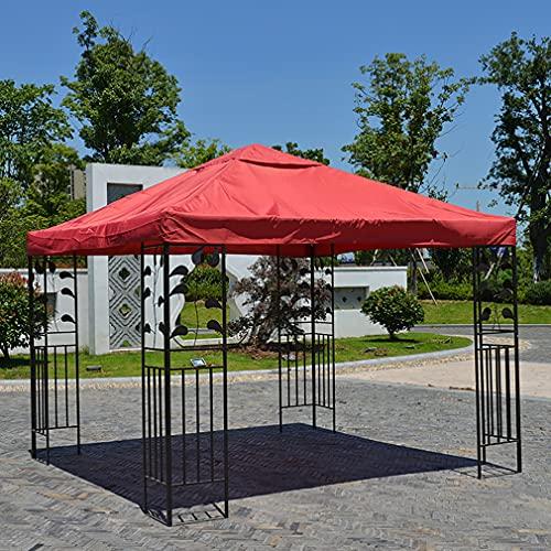 YLJXXY 3X3M Techo de Repuesto para Gazebo de Jardín Cubierta Techos de Reemplazo para Pabellón Cenadores Parasol Impermeable Toldos Velas de Sombra, Sin Soporte de Metal