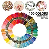 100 Colors Embroidery Floss Multi-Colors for Bracelets Embroidery Crafts Crafts Set Crafts Leisure Threads Sewing Threads Crochet for Children Adults and Beginners
