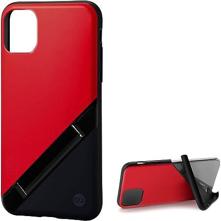 カンピーノ campino iPhone 11 Pro ケース OLE stand スタンド機能 耐衝撃 スリム 動画 Qi ワイヤレス充電対応 レッド × ネイビー Bi-Color 赤